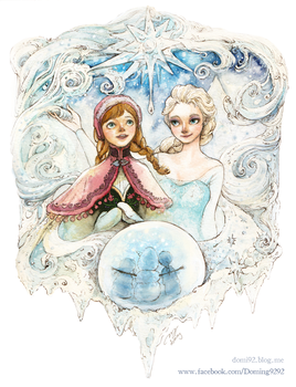 Fan Art / Elsa and Anna of Frozen by doming92