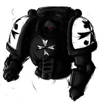 Black Templar Marine.. by MathiasTemplar
