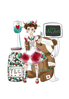 Guro Lolita Teddy Bear Hospital by Frills-Of-Justice