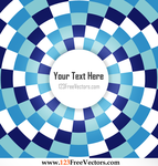 Abstract Blue Checkered Optical Illusion Backdrop by 123freevectors