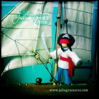 Pirate Captain Pocket Doll by JuliaGraceArts