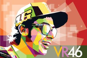 Valentino Rossi in WPAP by duniaonme