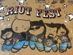 Riot fest 2015 anthrax kitties by artist Tom kelly by TomKellyART