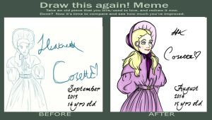 Draw this again! Meme. Cosette by Thehighwaygirl