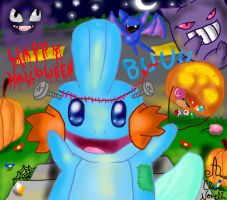Happy Halloween Mudkip!!!!! :D by ChibiWendy