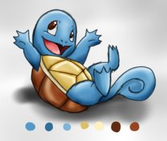 Squirtle Sketches by INeedMyCoffee