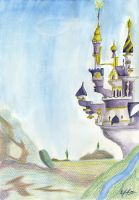 Canterlot In Watercolor by AFL316
