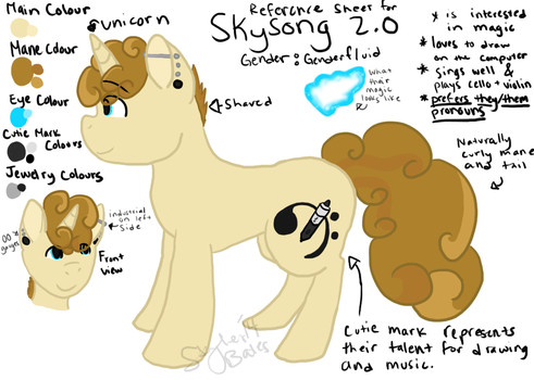 Skysong's Reference Sheet 2.0 by SubjectSkyley