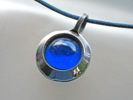 Blue Bead Pendant by ou8nrtist2