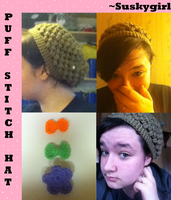 Puff Stitch Hat ::FOR SALE:: by Suskygirl