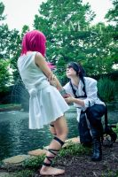 Hakuryuu Proposes to Morgiana Cosplay [HakuMor] by firecloak