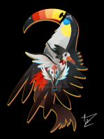 Pikipek, Trumbeak and Toucannon by Ilona-the-Sinister