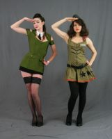 Military Gals 4 by MajesticStock
