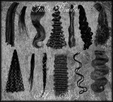 Hair Brushes Set 2 by Falln-Brushes