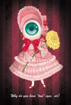 The young woman of an eyeball by TSUMIKO25