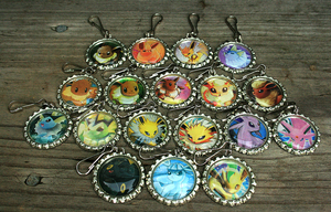 Eeveelution Keychains by MythicalFolk