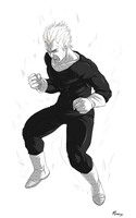 Screentoning - Vegeta Sayan by Afterlaughs