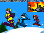Snowboard Cross Contest 2015: Round 2 Heat 1 by BluebottleFlyer