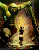Frazetta's Swamp Demon by Seth-Desmoen