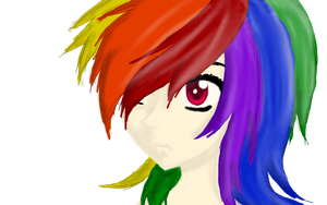 Human Rainbow Dash by Ask1Deidara1Anything