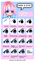 Shiny rainbow eye tutorial by CMYKidd