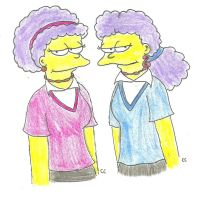 Teen Patty and Selma by TheSimpsonsFanGirl