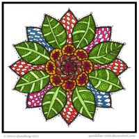 Sun Petal Collab Collab Mandala ruthcouldbe by Quaddles-Roost