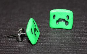 Creeper Earings by TwitchyTail
