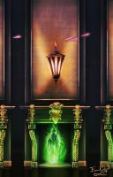 Ministry of Magic FLOO Fireplace by Emmanuel-Oquendo