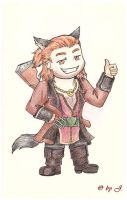 Dragon Age 2 - Varric by Noldo-Painter