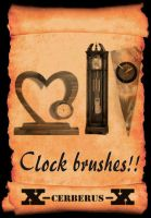 Clock brushes by X-Cerberus-X