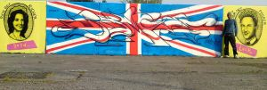 The royal Wedding graffiti by Brave1 by Brave-one