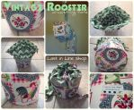 One of a Kind Project Bags: Vintage Rooster by the-carolyn-michelle
