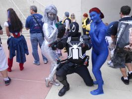 Venom with Emma Frost and Mystique by pa68