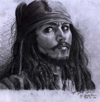 Captain Jack Sparrow by barbypornea