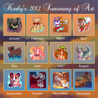 My 2012 tag art summary :) by karby-licious