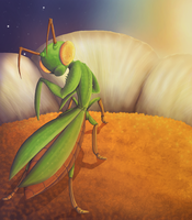Praying Mantis Final by VampireSelene13
