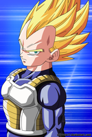 Vegeta Super Saiyan - Restoration by Miguele77