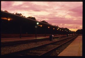 Dusk at Amtrak by Pensquared4life