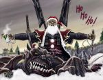 Merry Xmas - Santa Gahseng by Silent-Black