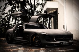 Mercedes SLS matt_black by Marko0811