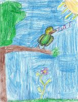 Bird In A Tree by Annaley