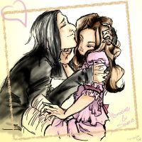 HP - Snape and Hermione by Chisako
