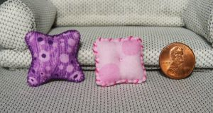 Pink And Purple Pillow Set by Kyle-Lefort