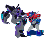 .:Megatronus and Optimus:. by JACKSPICERCHASE