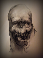creature sketch #1 by mikelis