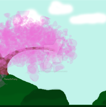 Tree- Landscape practice by FlameOnFairy