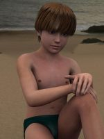 Boy on the Beach by Fobok