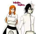 Orihime and Ulquiorra Render by katherineizaguirre