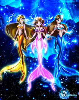 Acquaian Goddesses by hachimitsu-ink
